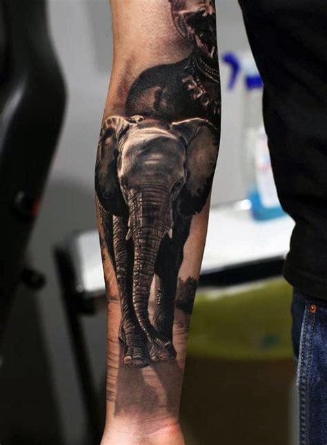 elephant tattoo on arm 100 elephant designs for think big