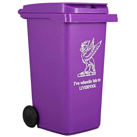 purple desk liverpool purple wheelie bin desk tidy liverpool gift