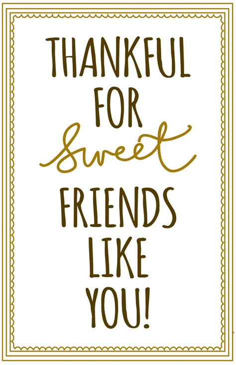 printable quotes on friendship cute printable label for gifting cookies bars breads etc