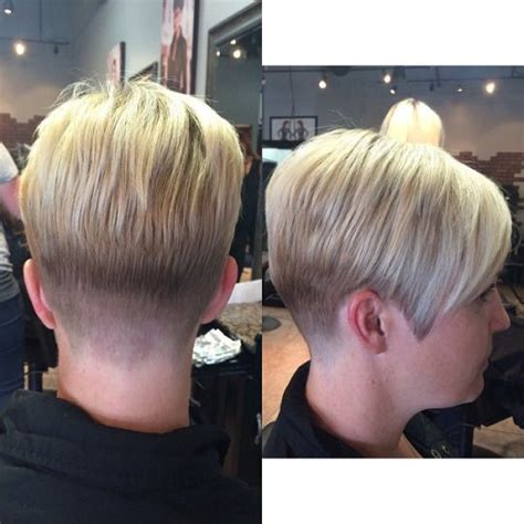 very short nape hairstlyes long side and tapered nape awesome asymmetric pixie s