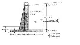 retaining wall design calculation exle retaining wall design calculations