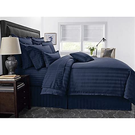 navy stripe comforter set buy wamsutta 174 500 thread count pimacott 174 damask stripe