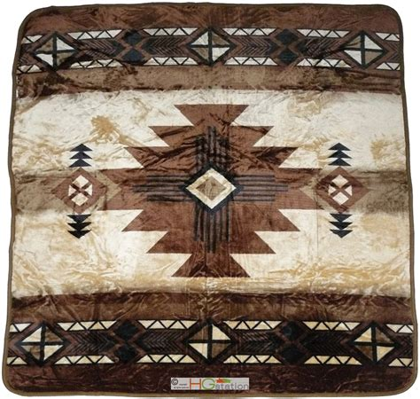 southwest native american blankets 79x94 southwest native indian beige soft plush faux mink
