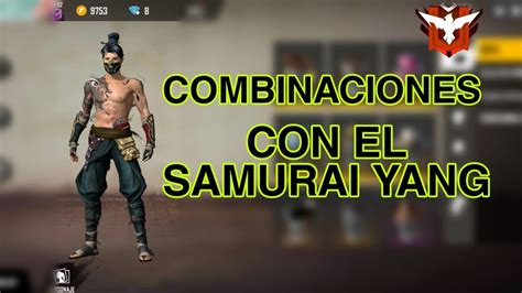 combinaciones  el set samurai yangfree fire youtube