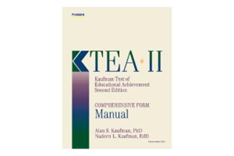 ktea report template kaufman test of educational achievement second edition
