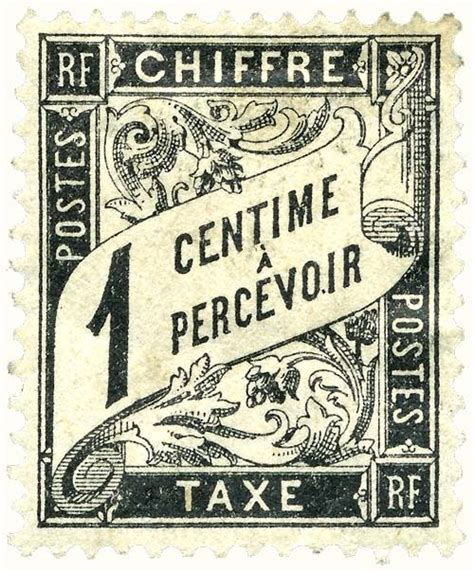 vintage ephemera french postage stamp 1882