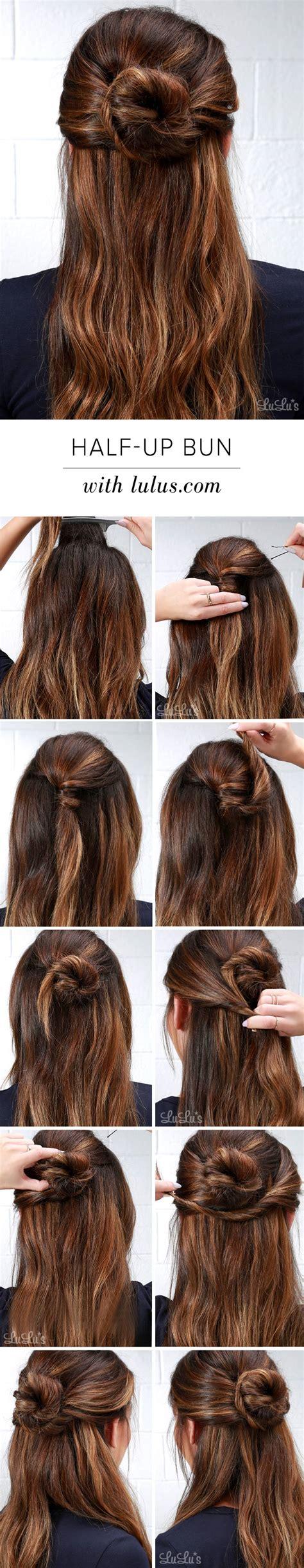blogger hair tutorial lulus how to half up bun hair tutorial lulus com