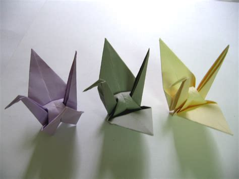 Large Origami Paper - origami cranes 100 large purple grey yellow origami
