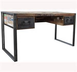 metal and wood desk desks sacred space imports