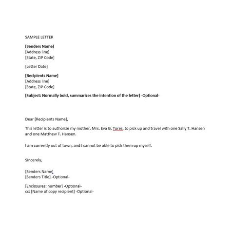 authorization letter account access 46 authorization letter sles templates template lab