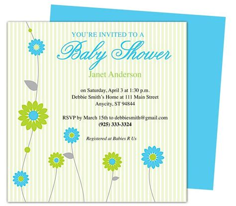 baby shower templates for word 42 best images about baby shower invitation templates on