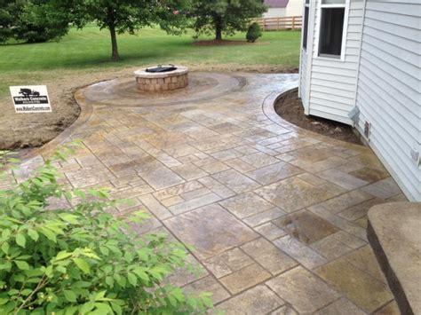 Poured Concrete Patio Designs Lovely Sted Concrete Patio Also Small Home Interior