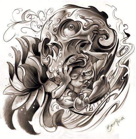 demented tattoo designs drawing skull designs images