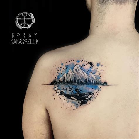 orca amp mountain tattoo best tattoo ideas amp designs