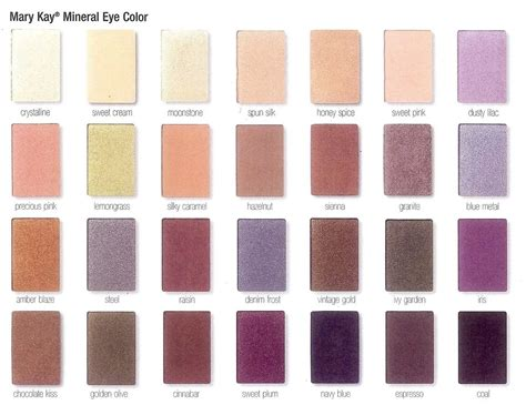 shadow color mary kay mineral eye shadow colors make up ideas