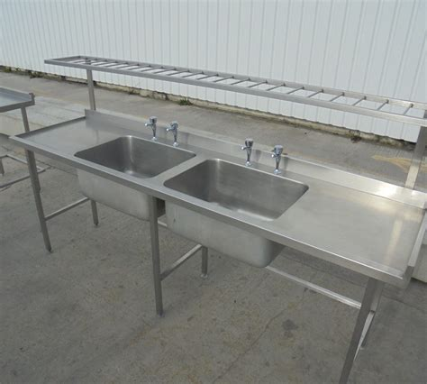 used stainless steel sinks used stainless steel double bowl 240cmw x 65cmd x