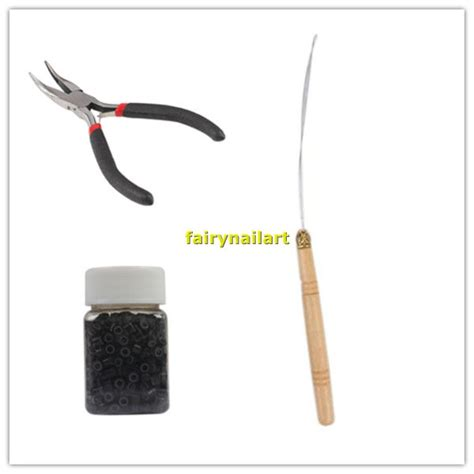 how to use a hair bead threader hair extension tool set micro cls bead hook needle