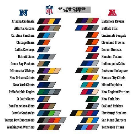 team colors nfl team colors search football logo color
