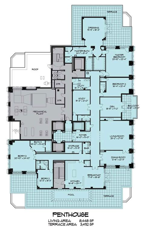 pent house floor plan penthouse floor plans floor plan fanatic
