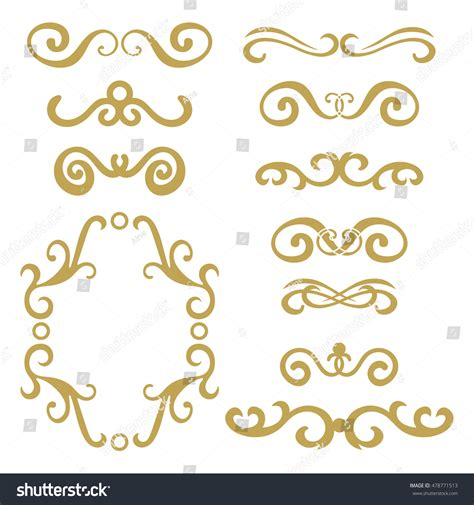 header design stock photos images pictures shutterstock set gold abstract curly headers design stock vector