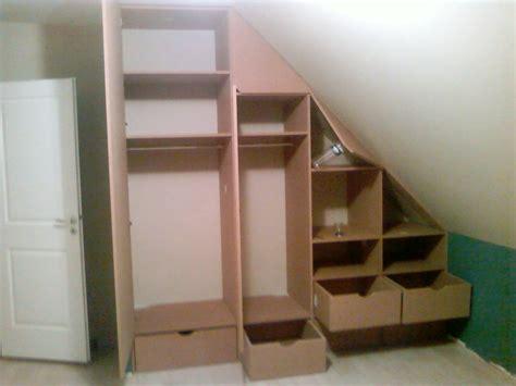 armoire pour chambre mansard馥 armoire pour chambre mansarde cheap dressing modulaire