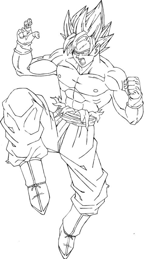 dibujos para colorear de goku super saiyan 4 search dibujo de goku super saiyan 4 imagui
