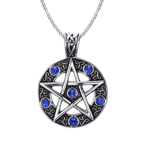 vintage style jewelry pentagram pentacle pagan wiccan
