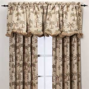 Tropical Kitchen Curtains Palm Chenille Window Curtain Panel Tropical Curtains By Bed Bath Beyond