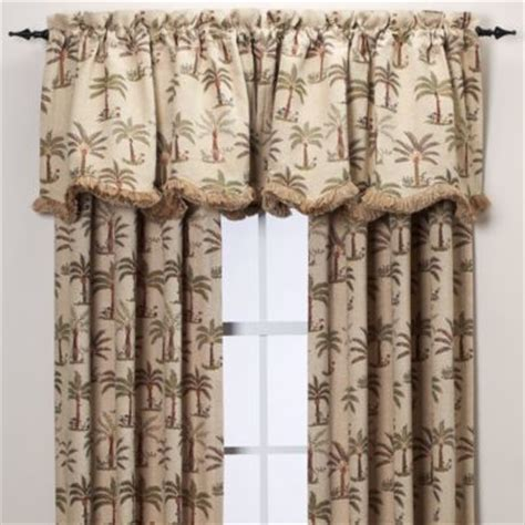 palm curtains palm chenille window curtain panel tropical curtains