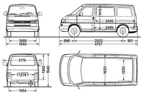 volkswagen caravelle dimensions dimensions of the vw t4 transporter van t4 cer