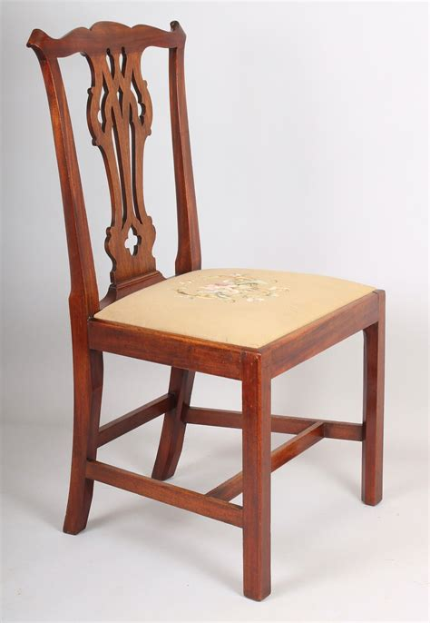 chippendale chairs set of six george iii period mahogany country chippendale