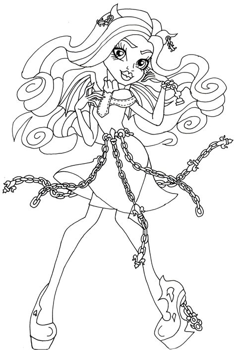 monster high rochelle coloring pages free printable monster high coloring pages rochelle goyle