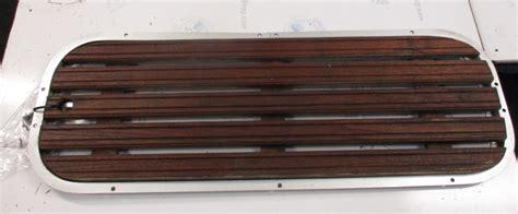 boat deck screws boat floor deck ski hatch cover teak aluminum frame w