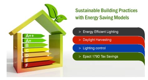 energy efficient lighting tax credit sustainable building practices with energy saving models