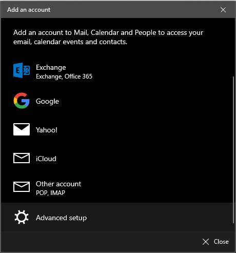 setting email  aplikasi mail  windows