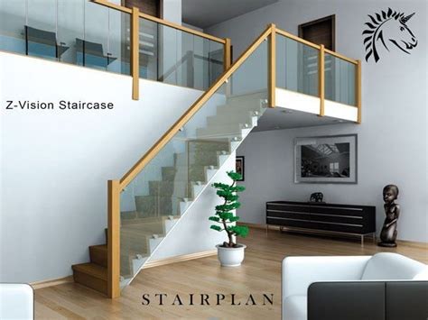 design ideas vision glass oak and glass staircase the z vision home ideas