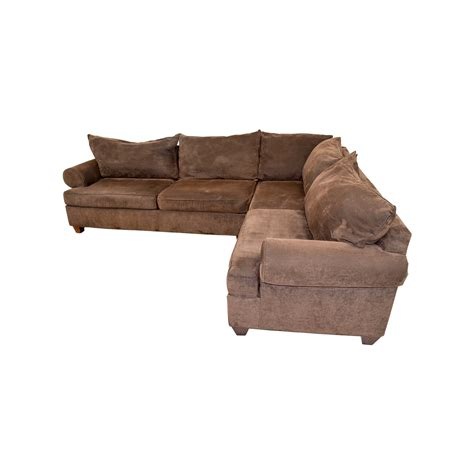 chocolate corduroy sectional sofa 75 off brown corduroy l shaped sectional couch sofas