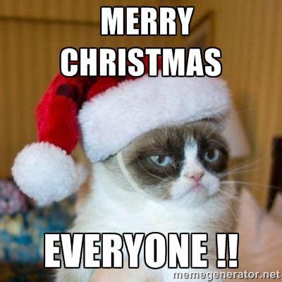 grumpy cat christmas pics merry christmas  grumpy cat santa hat meme generator