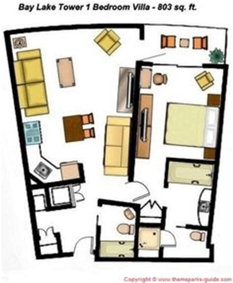 bay lake tower 2 bedroom floor plan disney world resort hotels floor plan on pinterest