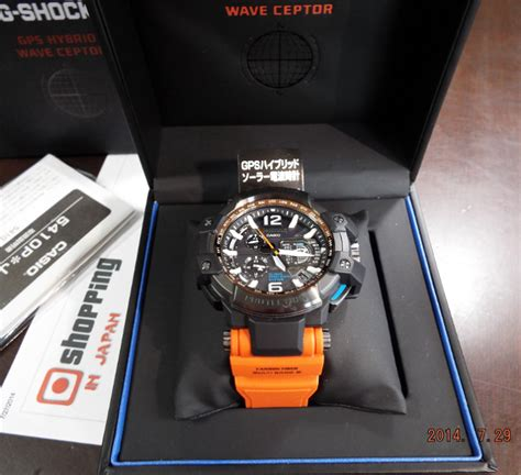 Gshock Gpw1000 Orange montre casio g shock gps wave ceptor orange
