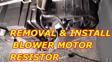 how to replace a blower motor on a 2000 chevy tahoe blower motor resistor replacement youtube