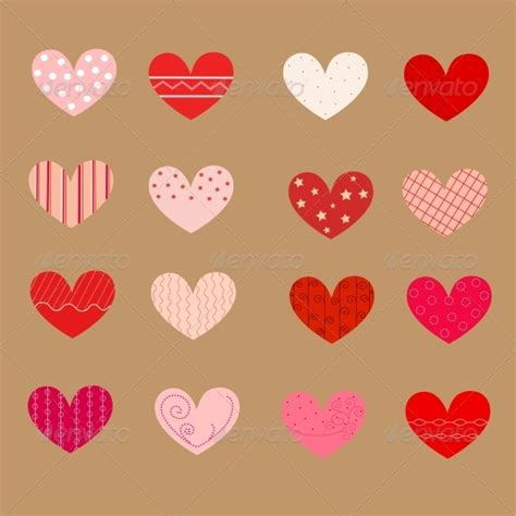 decorated hearts patterns seamless graphicriver