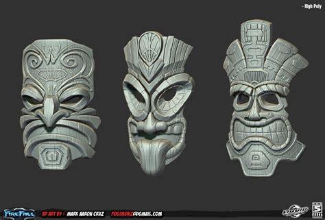 tiki head tattoo firefall tiki masks by pogimonz aaxiomatic