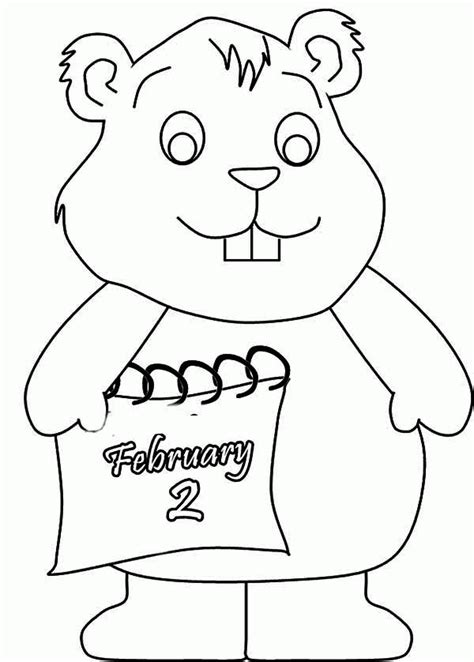 printable coloring page of a groundhog printable coloring pages of groundhogs coloring home