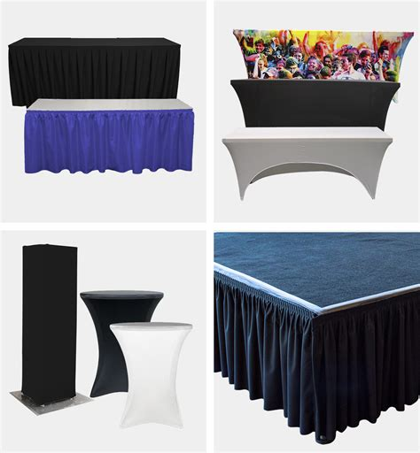 table skirts covers  stage skirting georgia expo