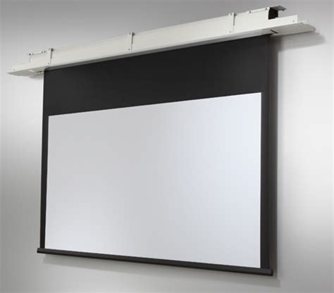 ceiling recessed projector screen celexon ceiling recessed electric expert cree 280x175 matt white ceiling recessed projector screen