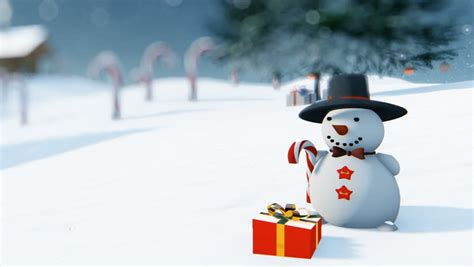 beautiful christmas background  snowman stock footage video  royalty