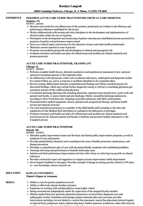 sle practitioner resume template practitioner resume exle resume template sle
