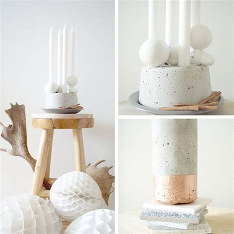 Vierer Kerzenhalter by 34 Cool And Modern Diy Concrete Projects