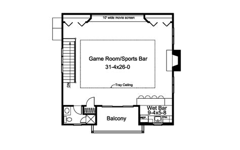 movie theater floor plan sarina bar and movie theater plan 009d 7522 house plans and more